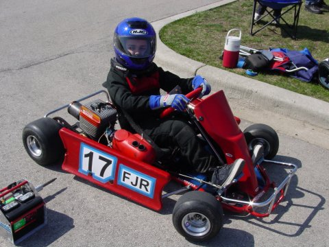 Anthony in our first kart at age 10